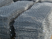 Gabion box with zinc or PVC twist hexagonal mesh for rockfall