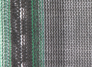 Horizontal debris netting features and construction using